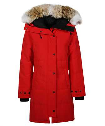 red down parka coat