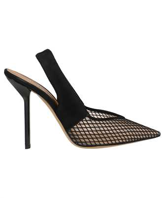 pointed lower mesh pumps