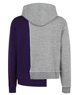 asymmetric two-tone hoodie