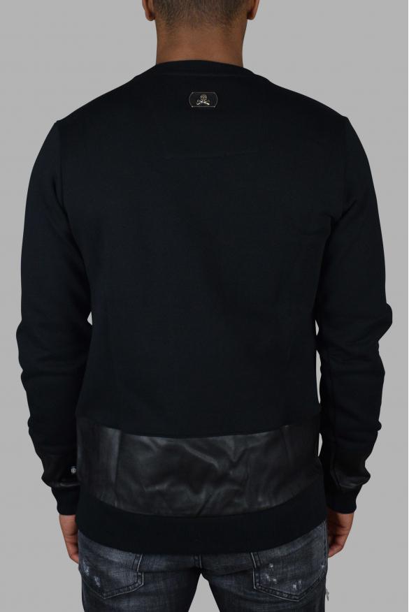 Luxury sweatshirt for men - Philipp Plein black sweatshirt with lettering