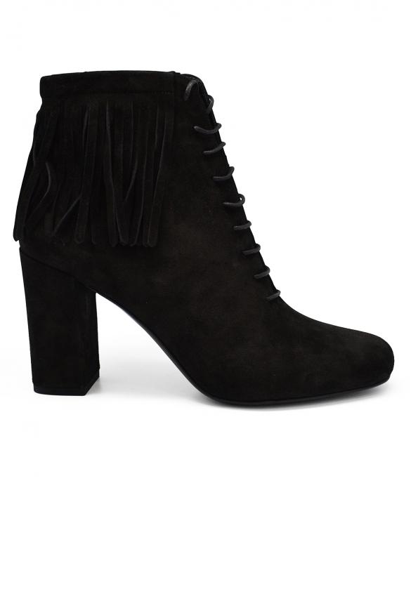 Women luxury shoes - Saint Laurent Babies 90 ankle boots black suede