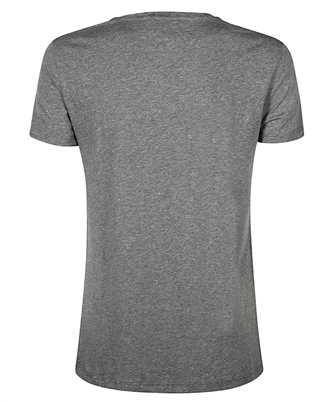metallic logo print round neck T-shirt