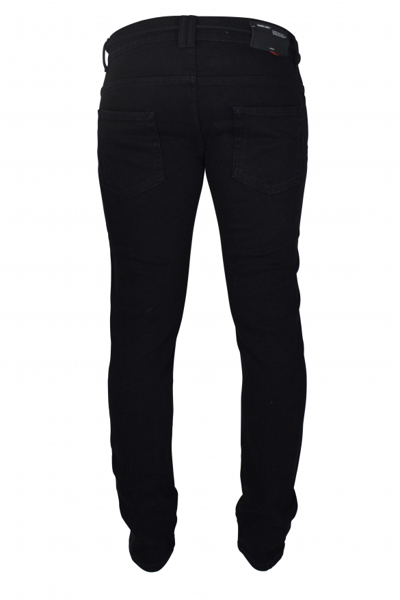 Men's luxury jeans - Black Off-White slim jeans with drawstrings