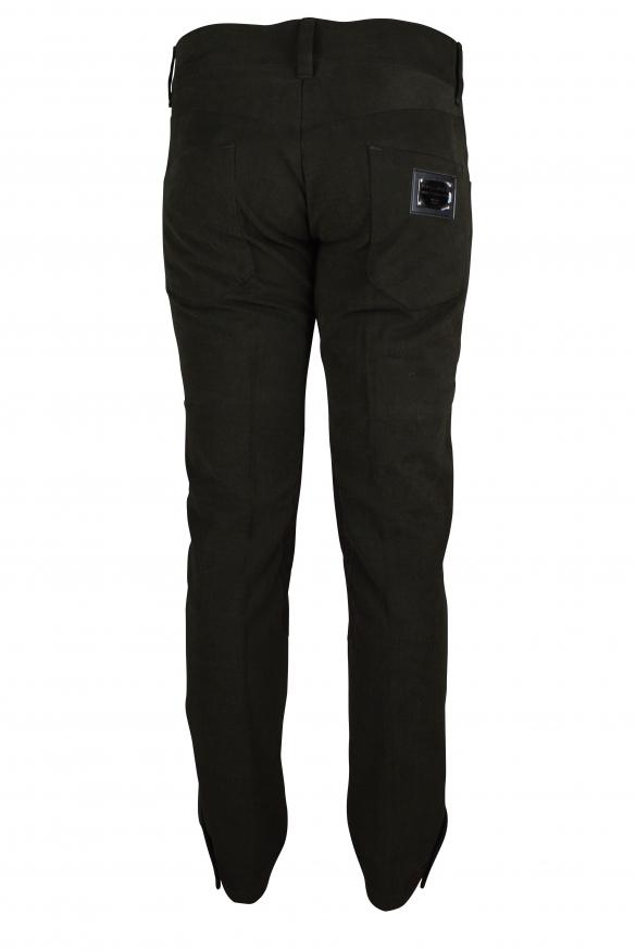 Luxury trousers for men - Dolce & Gabbana brown velvet effect trousers