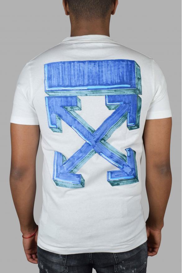 Men's luxury T-Shirt - Off-White white T-Shirt blue arrows