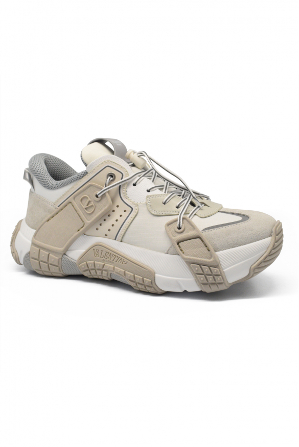 Men's luxury sneakers - Valentino sneakers model Wod white and beige