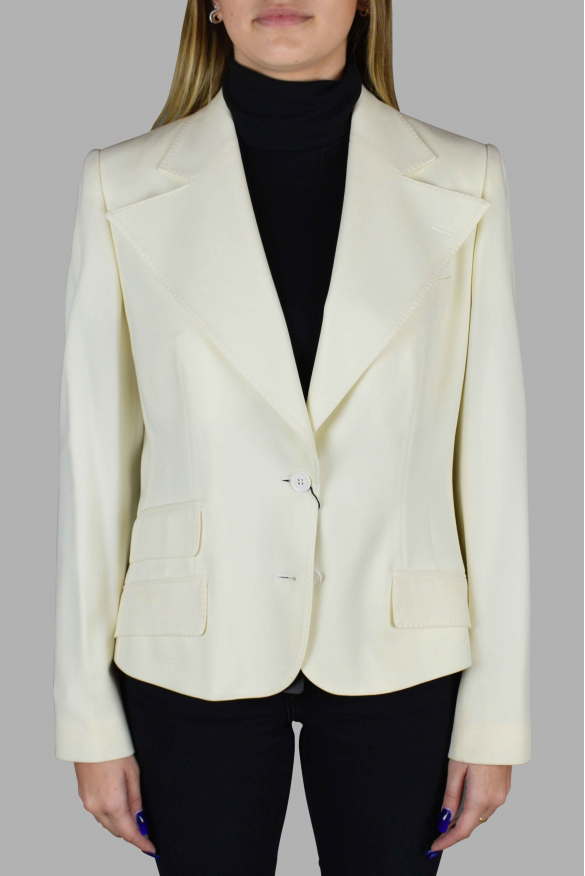 Women's luxury jacket - Off-white Dolce & Gabanna blazer with multiple pockets