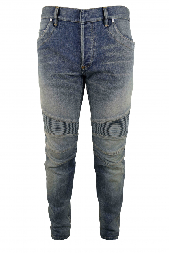 Men's designer jeans - Balmain Biker blue jean
