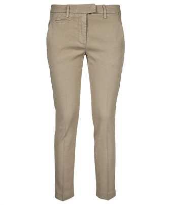 slim-fit cotton gabardine trousers