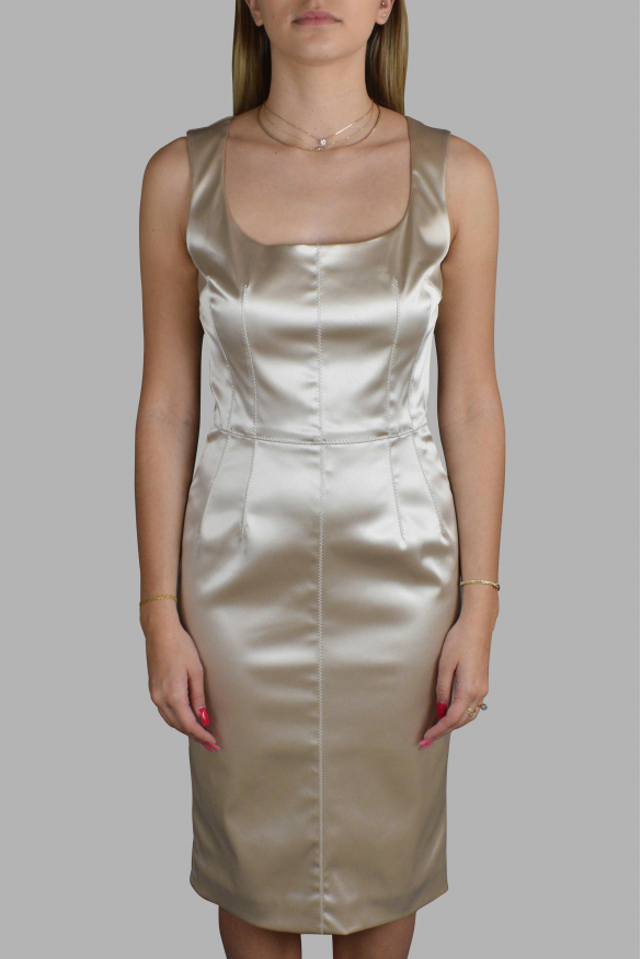Luxury dress for women - Dolce & Gabbana satin gold dress