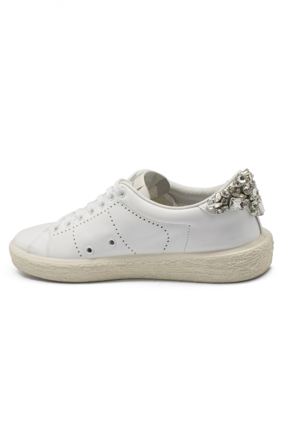 Luxury shoes for women - Golden Goose Tennis sneakers Swarovski