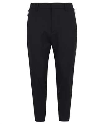 worsted stretch wool tapered brad trousers