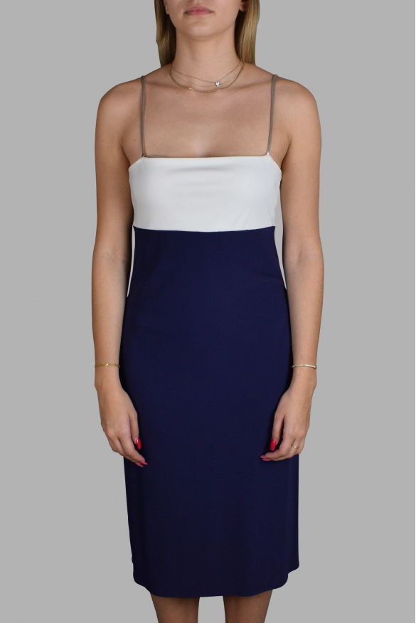 Luxury dress for women - Ralph Lauren blue and white dress