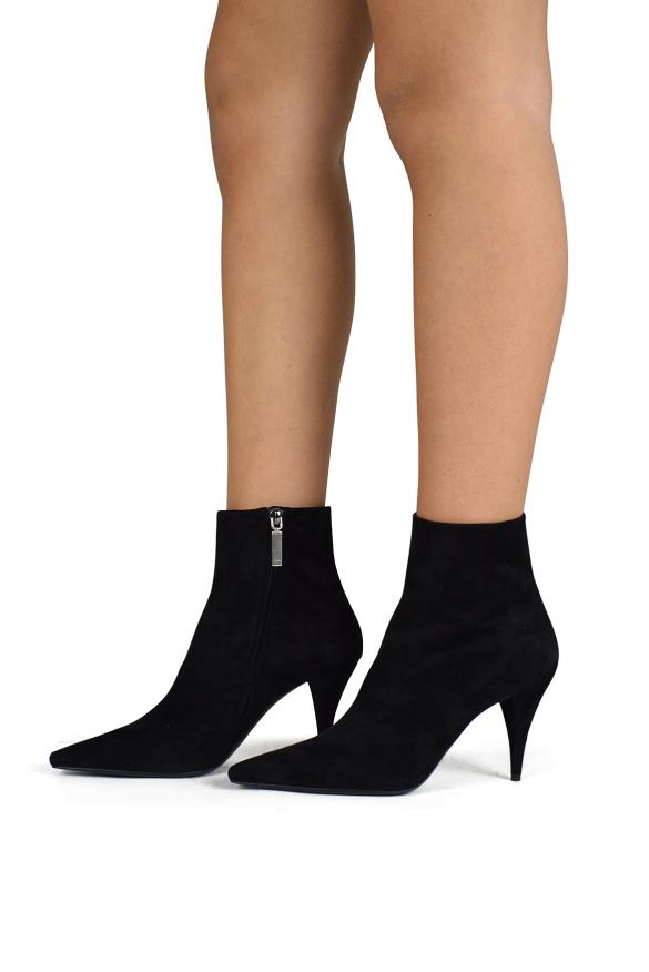 Luxury shoes for women - Saint Laurent Kiki boots in black suede