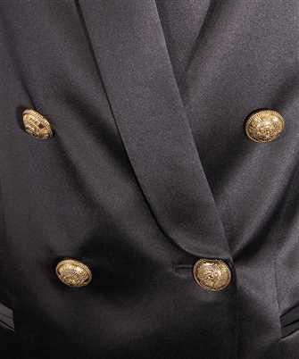 double-breasted silk blazer