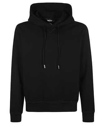 patch-detail drawstring hoodie