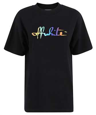 rainbow logo-print oversize T-shirt