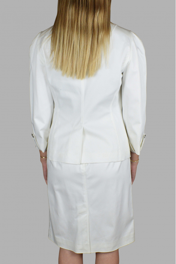 Women's luxury suit - Dolce & Gabbana white suit with silver details