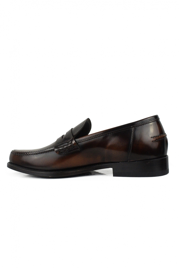Luxury shoes for men - Brown loafers in shiny brown leather