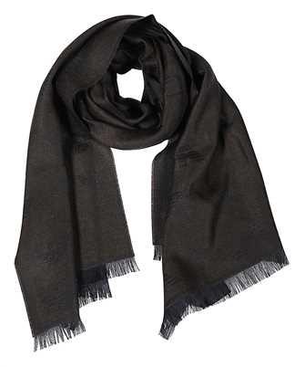 logo frayed scarf