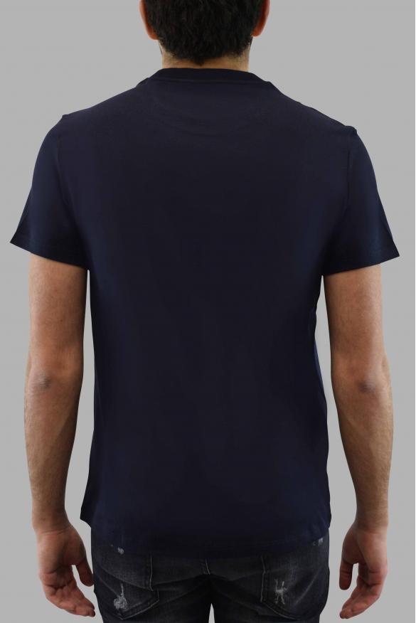 Men's designer t-shirt - Valentino blue t-shirt with blue V logo