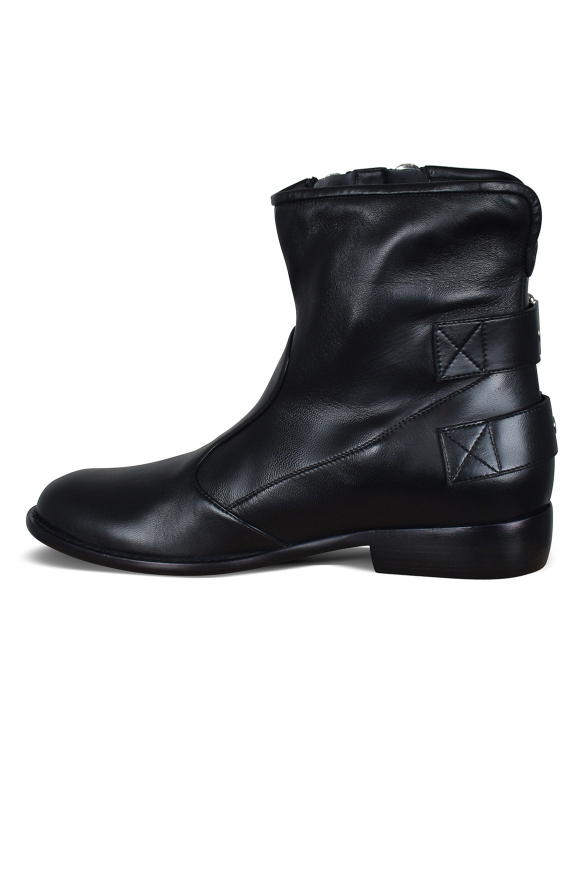 Luxury shoes for men - Giuseppe Zanotti boots in black leather