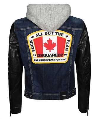 icon jersey hood denim jacket