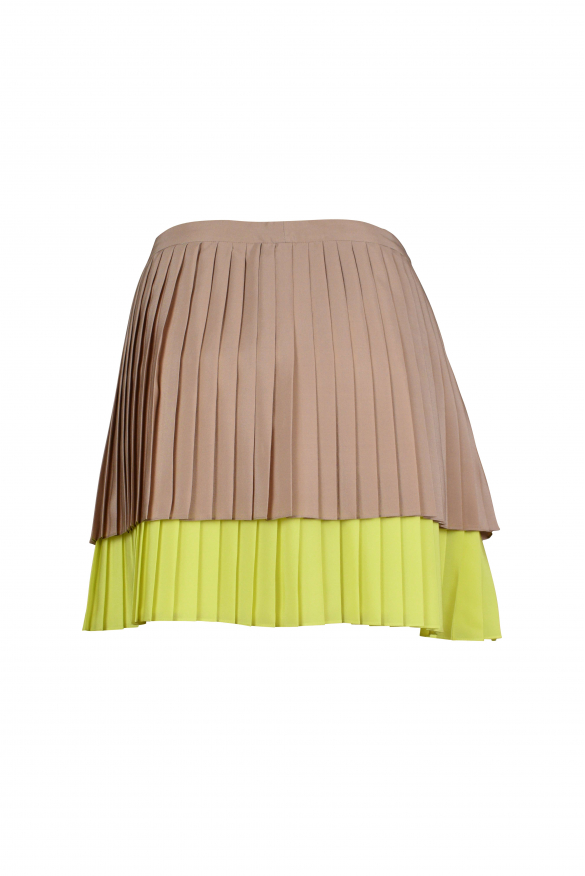 Luxury skirt for women - Gucci pleated skirt two-tone brown and yellow