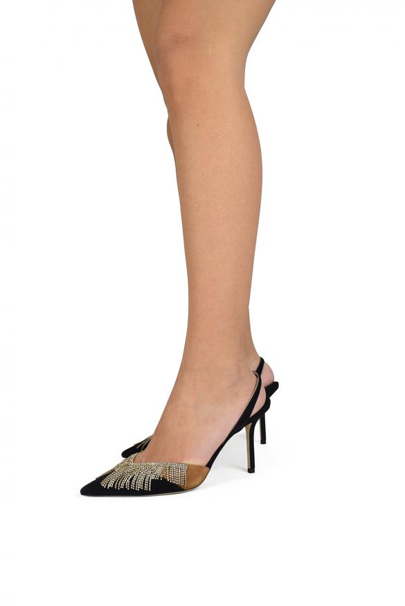 Women's luxury pumps - Jimmy Choo model Thia pumps in black and brown suede