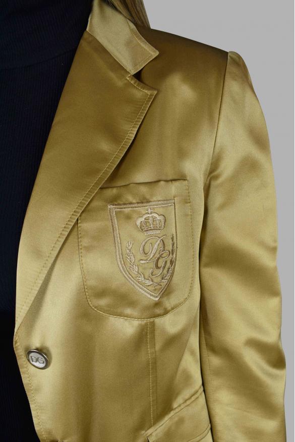 Women's luxury jacket - Dolce & Gabbana gold silk blazer