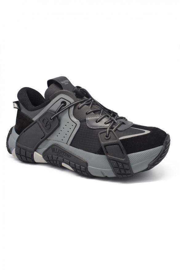 Men's luxury sneakers - Valentino sneakers model Wod black and grey