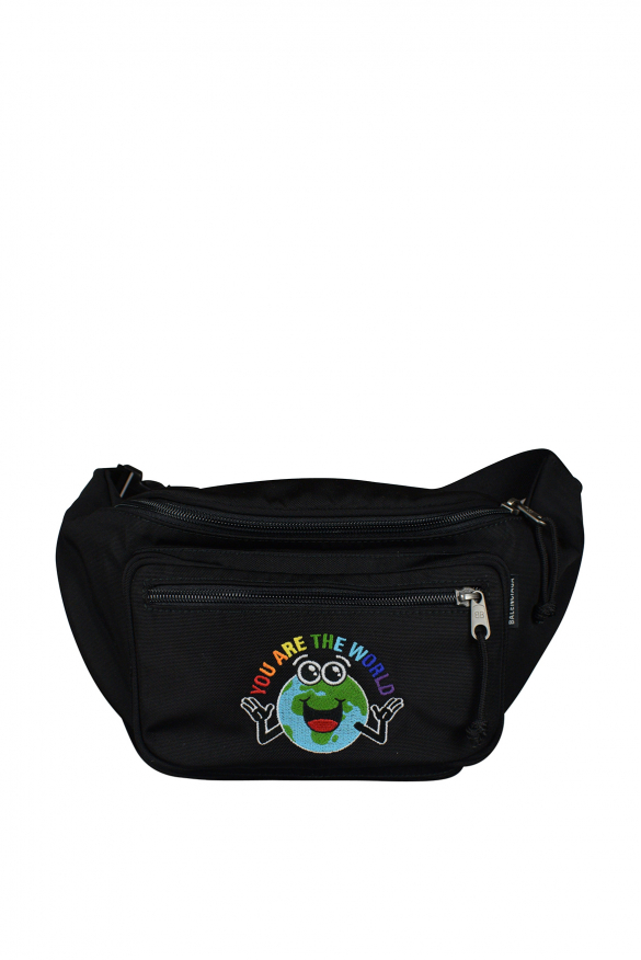 Luxury satchel - Black Balenciaga satchel with multicolored design