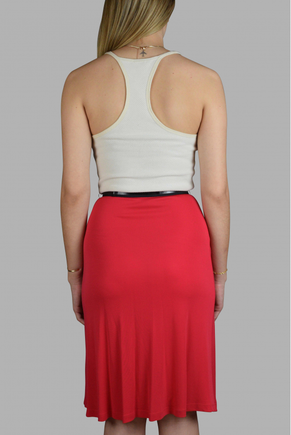 Luxury dress for women - L'Agence white and red dress