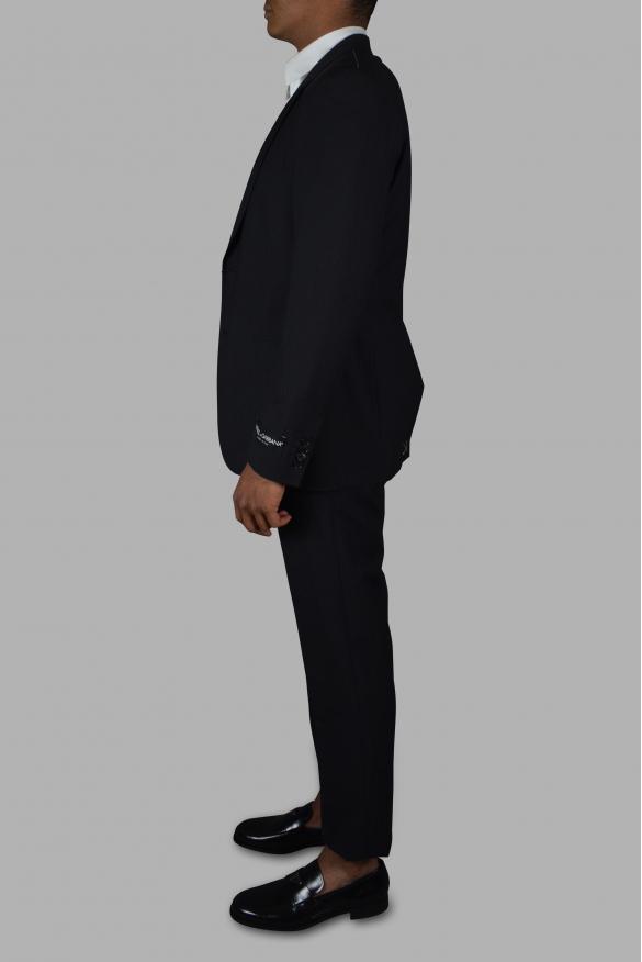 Men's luxury suit - Dolce & Gabanna black two-piece suit with tone-on-tone stripes