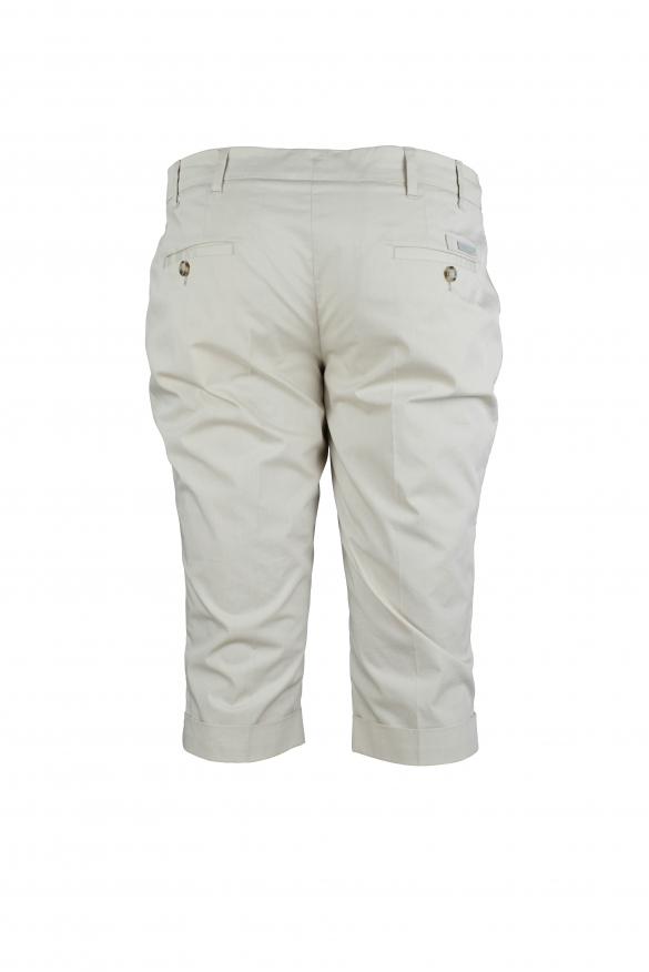 Luxury shorts - Prada beige shorts with hems