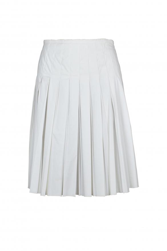 Luxury skirt for women - Prada white pleated skirt