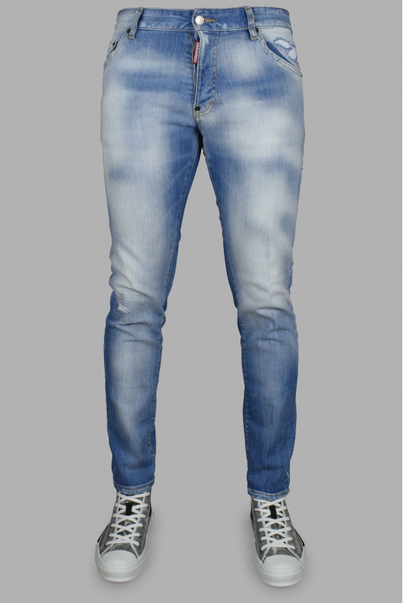Men's luxury jeans - Cool Guy Jean Dsquared2 light blue washed effect