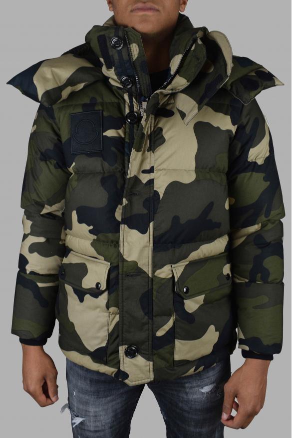Luxury jacket for men - Moncler camouflage print puffer jacket