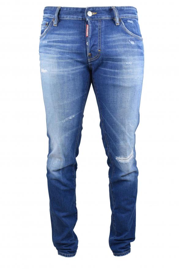 Men's luxury jean - Slim Jean Dsquared2 faded blue