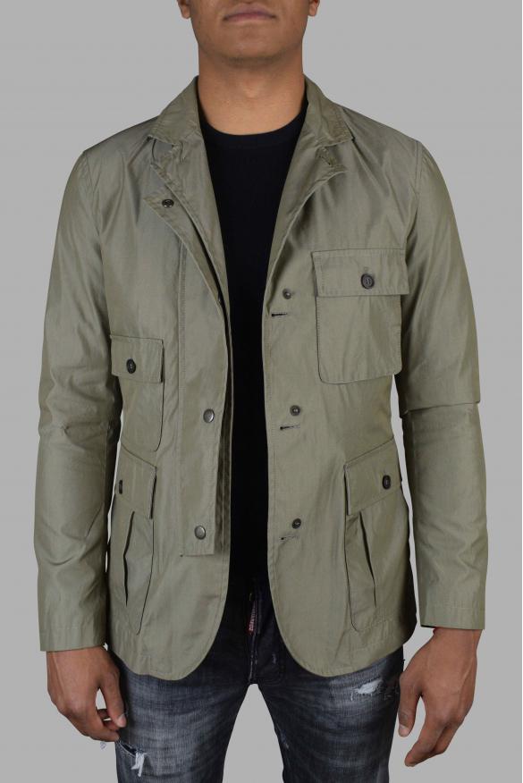 Luxury jacket for men - Dolce & Gabanna khaki hooded jacket