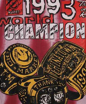 Chinatown Market SMILEY CHAMPION 3 RINGS TIE-DYE Sweatshirt