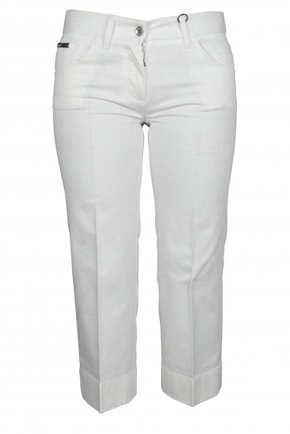 Luxury trousers for men - Dolce & Gabbana white cotton trousers