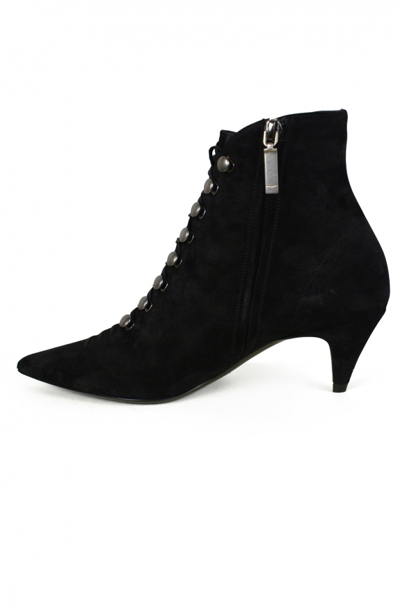 Women's luxury ankle boots - Saint Laurent ankle boots model Ally in black suede