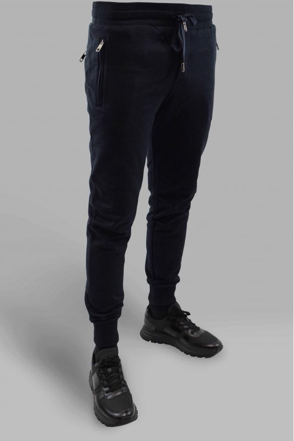 Men's designer jogging - Dolce & Gabbana black zipped jogging
