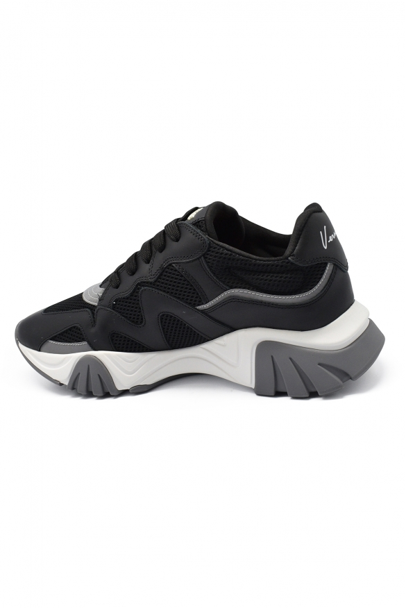 Men luxury sneakers - Squalo Versace sneakers in mesh and  leather