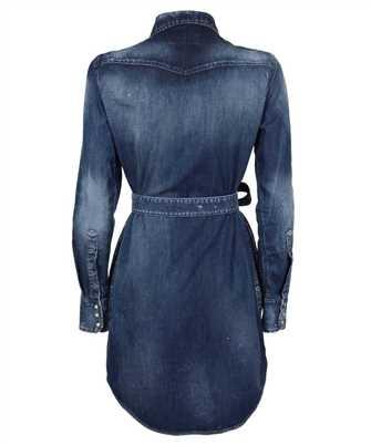distressed denim shirt dress