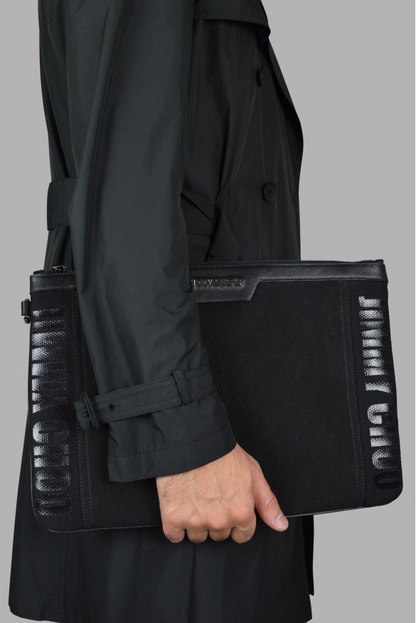Luxury bags for men - Derek Jimmy Choo black clutch bag with logo