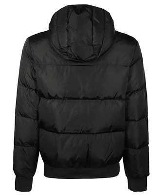 logo-print puffer jacket