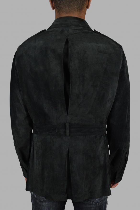 Men's luxury coat - Gucci coat in khaki suede.