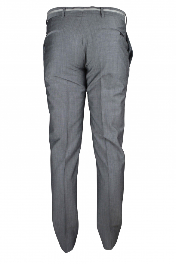 Luxury pants for men - Prada gray pants with light gray stripe